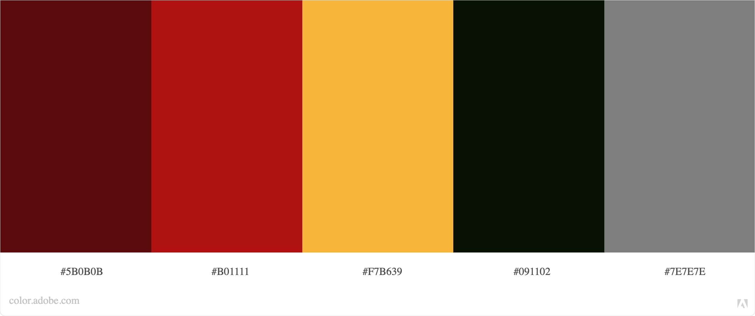 The Brew Lab color palette created in Adobe Color.