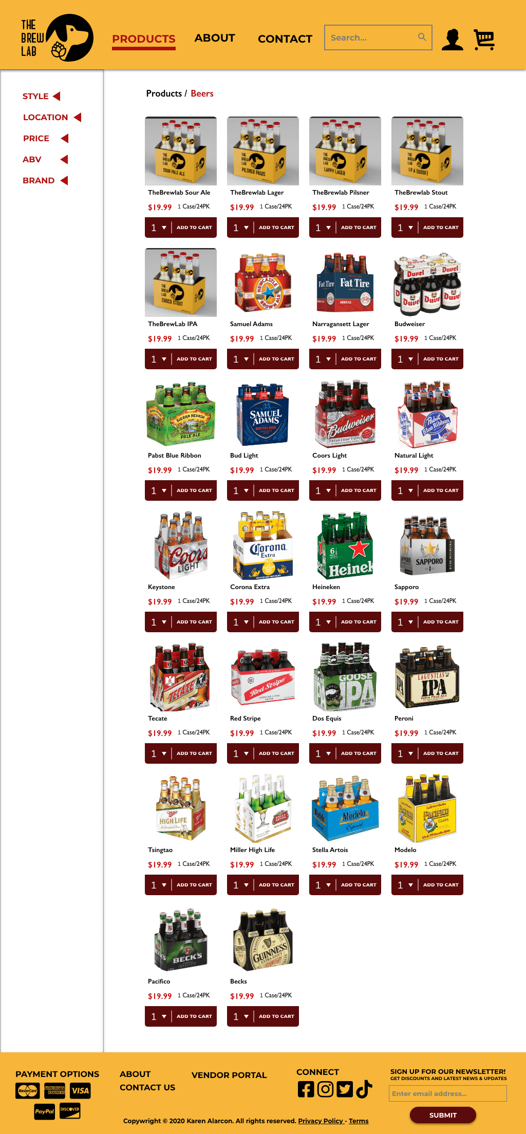 TBL Product Page List - All Beers
